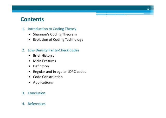 LDPC Codes