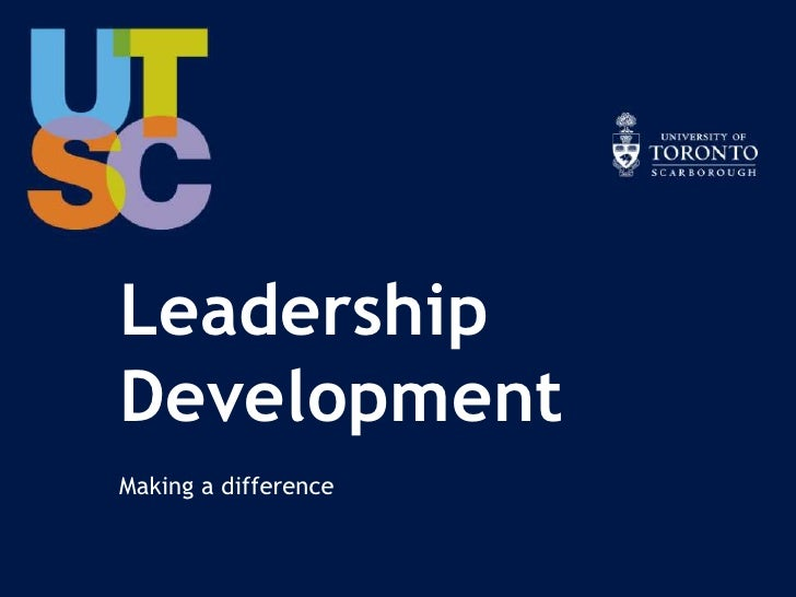 LeadershipDevelopmentMaking a difference