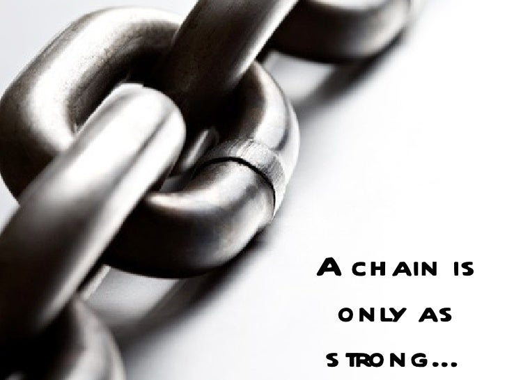 A Chain Is Only As Strongu2026