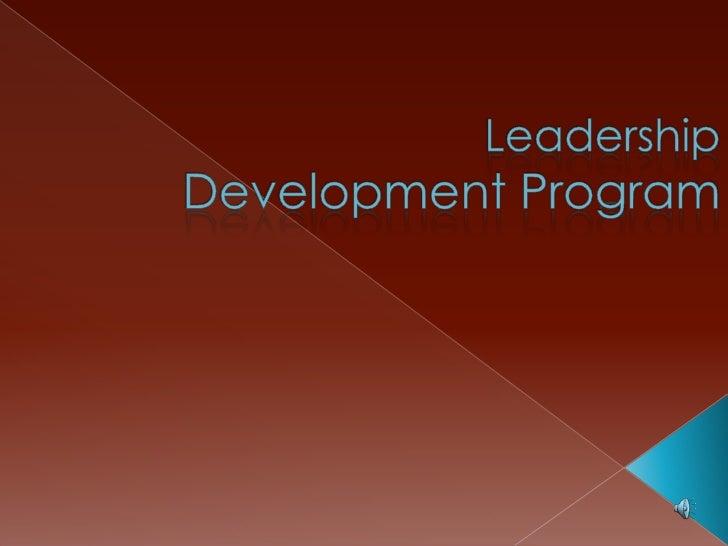 Leadership Development Program<br />