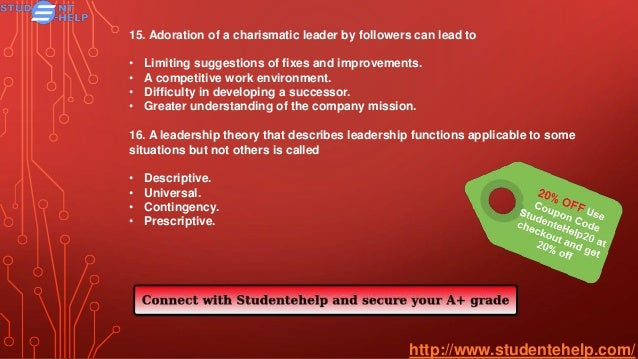 leadership 531 final exam questions Ldr 531 week 3 quiz essay  grading summary these are the automatically computed results of your exam grades for essay questions,  ldr 531 final exam.