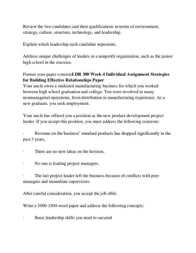 LDR 300 Read, Lead, Succeed/Uophelpdotcom