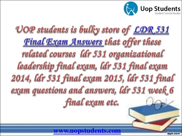Tag Archives: LDR 531 organizational leadership final exam
