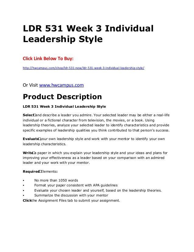 ldr531 leadership style 2