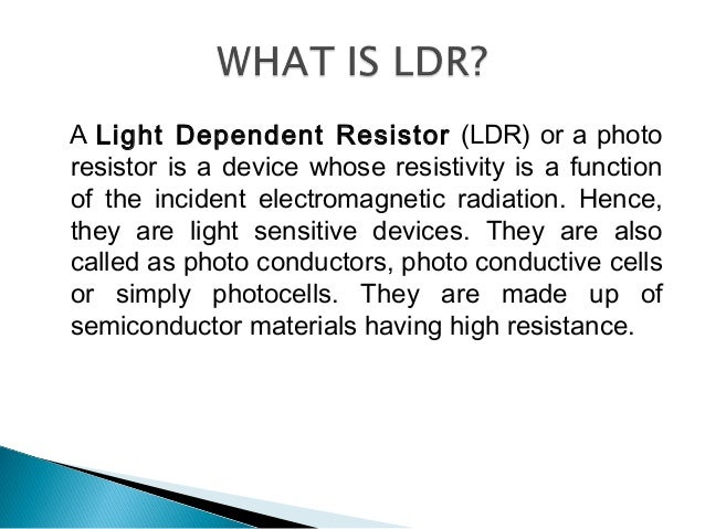 Modern Working Principle Of Ldr Ideas - Electrical Circuit Diagram ...