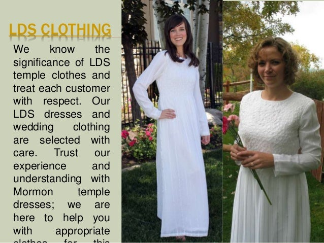 LDS Temple Dresses