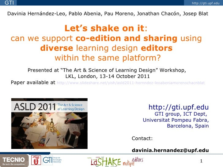 Davinia Hernández-Leo, Pablo Abenia, Pau Moreno, Jonathan Chacón, Josep Blat Let's shake on it :  can we support  co-editi...