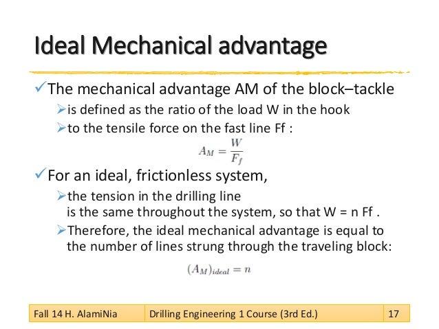 ideal mechanical advantage formula