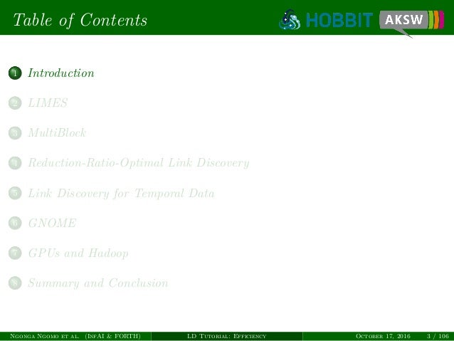 Link Discovery Tutorial Part I: Efficiency Slide 3