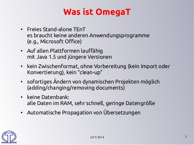 Introduction to OmegaT Slide 3
