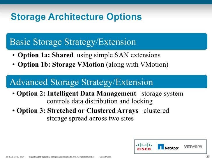Storage Architecture Options