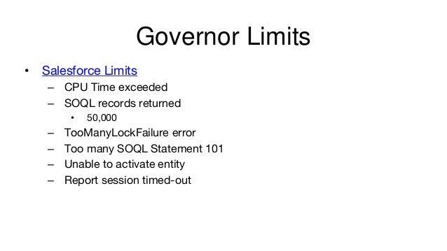 Soql Limits