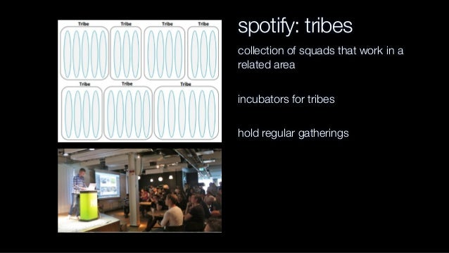 spotify: chapters and guilds chapters represent horizontal practices within a tribe guilds represent horizontal practices ...