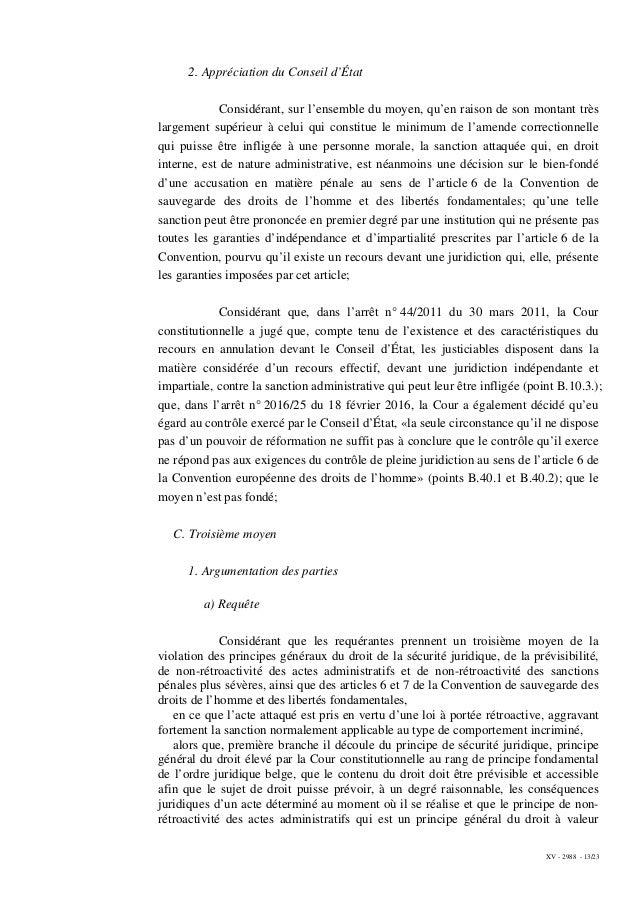 XV - 2988 - 13/23 2. Appréciation du Conseil d'État Considérant, sur l'ensemble du moyen, qu'en raison de son montant très...