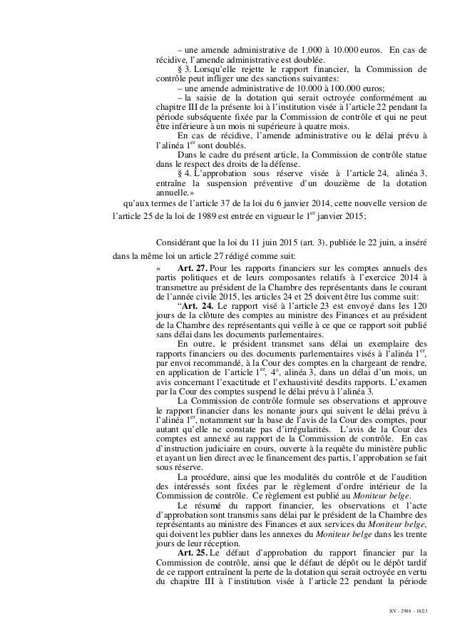 XV - 2988 - 18/23 – une amende administrative de 1.000 à 10.000 euros. En cas de récidive, l'amende administrative est dou...