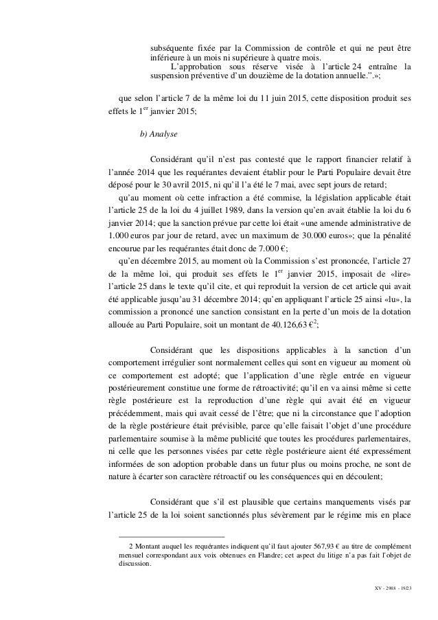 XV - 2988 - 19/23 subséquente fixée par la Commission de contrôle et qui ne peut être inférieure à un mois ni supérieure à...