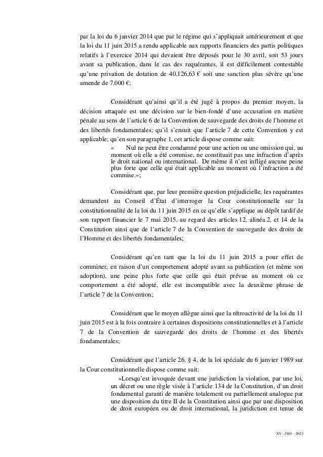 XV - 2988 - 20/23 par la loi du 6 janvier 2014 que par le régime qui s'appliquait antérieurement et que la loi du 11 juin ...