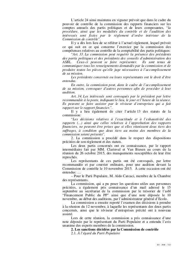 XV - 2988 - 7/23 L'article 24 ainsi maintenu en vigueur prévoit que dans le cadre du pouvoir de contrôle de la commission ...