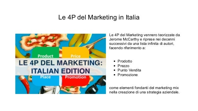 acquisire clienti - le 4 p del marketing in italia