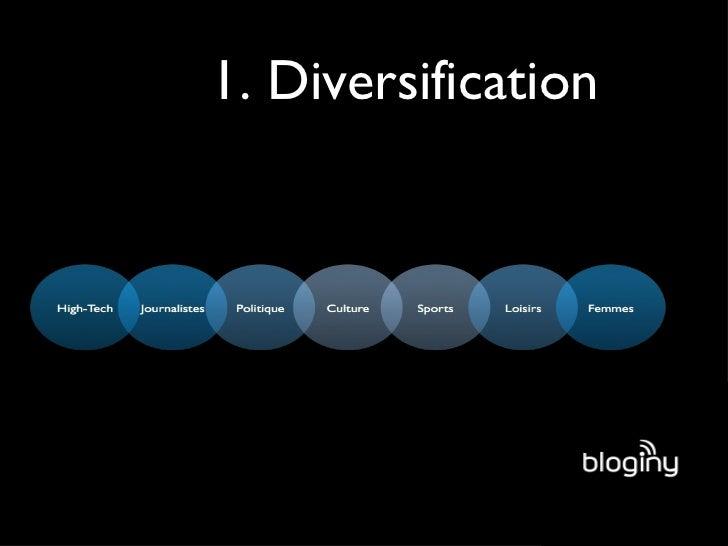 1. Diversification
