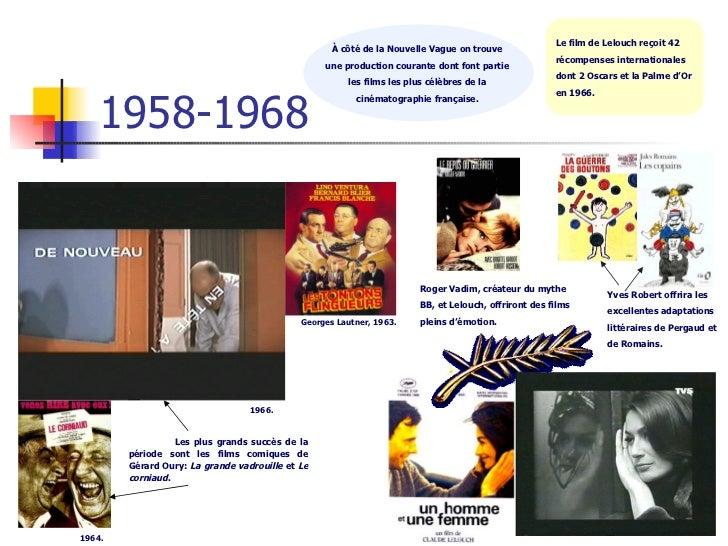 1958-1968 À côté de la Nouvelle Vague on trouve  une production courante dont font partie  les films les plus célèbres de ...