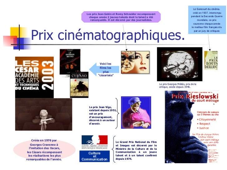 Prix cinématographiques. Le Goncourt du cinéma.  c réé en 1937,   interrompu pendant la Seconde Guerre  mondiale,  ce prix...