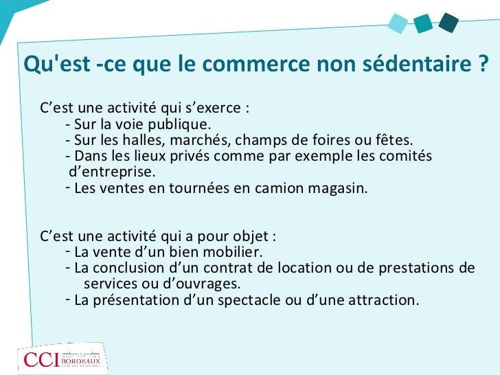 25bfd8df378 Le commerce non sédentaire - CCI de Bordeaux