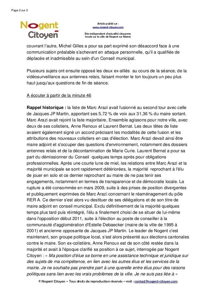 Le conseil-municipal-de-nogent-degenere-en-algarade Slide 2