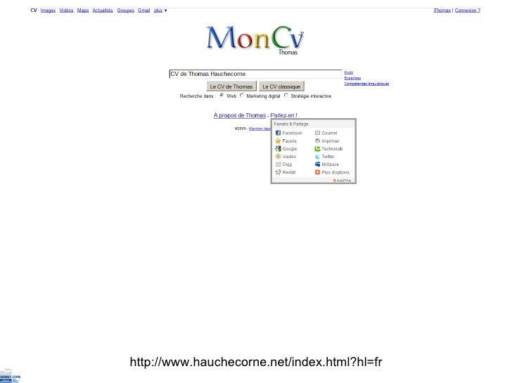 le cv approche classique et perspectives numeriques