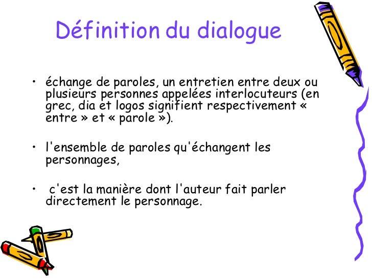 Le Dialogue (au théatre) Slide 3