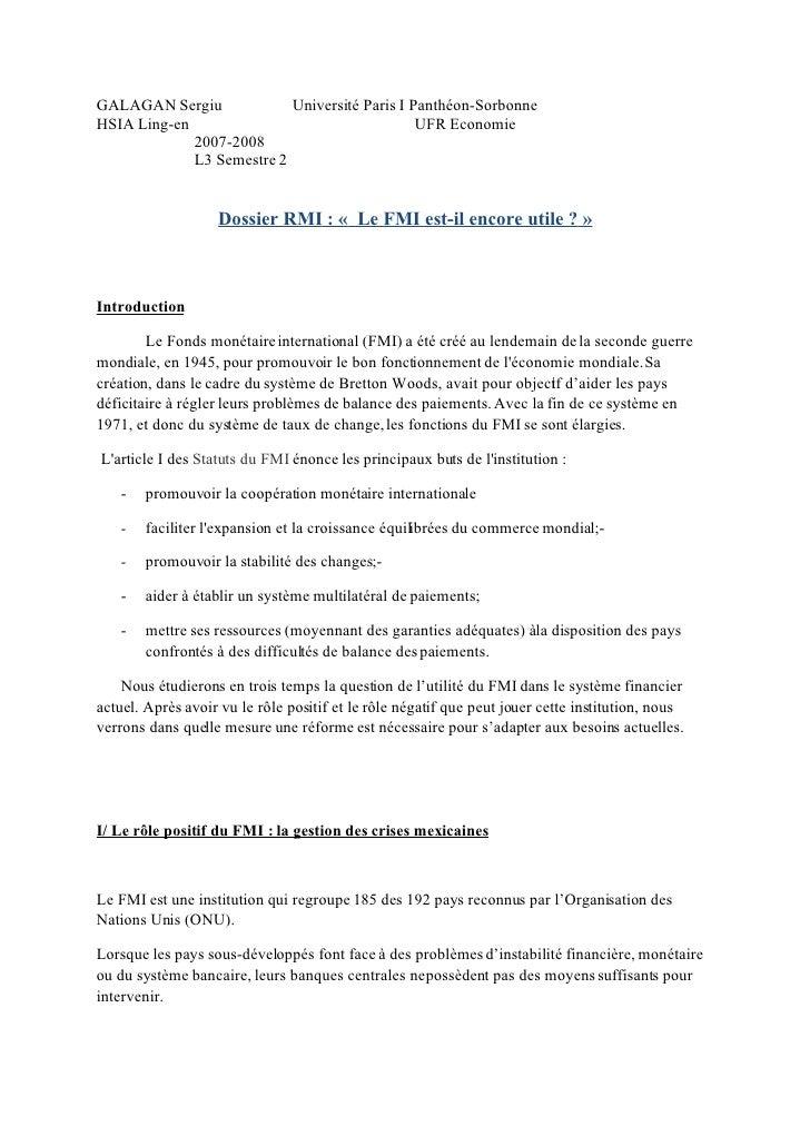 HSIA Ling-en       Université Paris I Panthéon-Sorbonne GALAGAN Sergiu                                      UFR Economie  ...