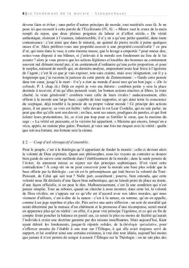 schopenhauer le fondement de la morale pdf