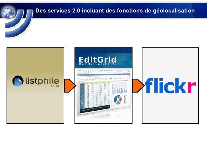 Des services 2.0 incluant des fonctions de géolocalisation