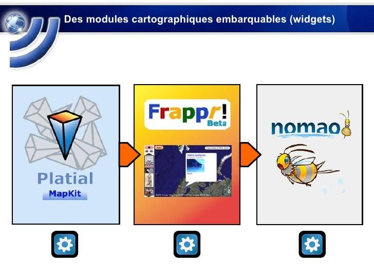 Des modules cartographiques embarquables (widgets)