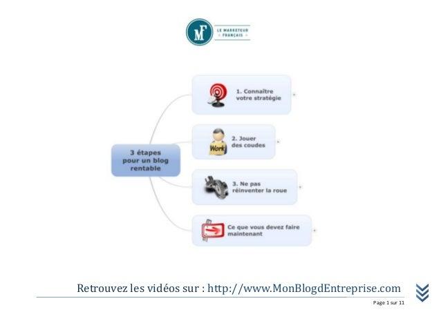 Retrouvez les vidéos sur : http://www.MonBlogdEntreprise.com Page 1 sur 11