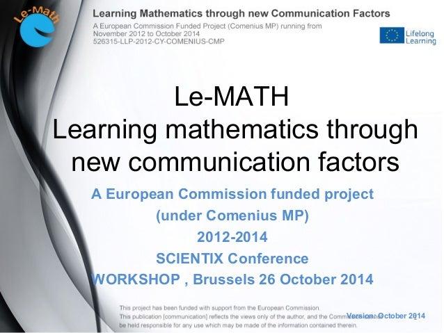 M factor communication in ventures