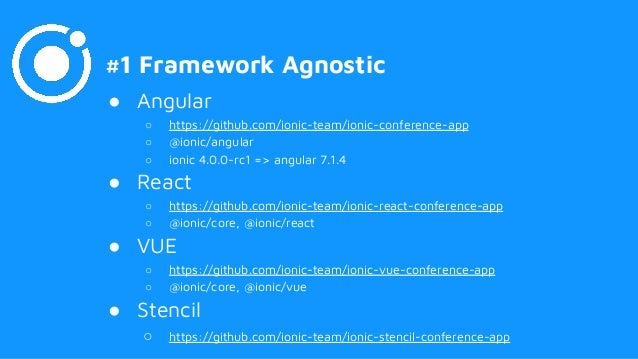 Le novità di Ionic 4- Il framework basato su Angular per