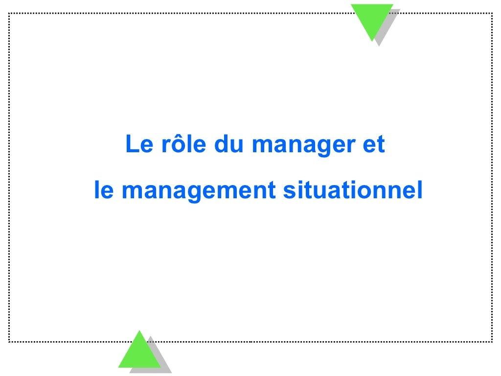 Le rôle du manager