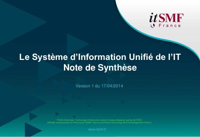 ITIL® (Information Technology Infrastructure Library) marque déposée auprès de l'OGC. Diffusée exclusivement en France par...
