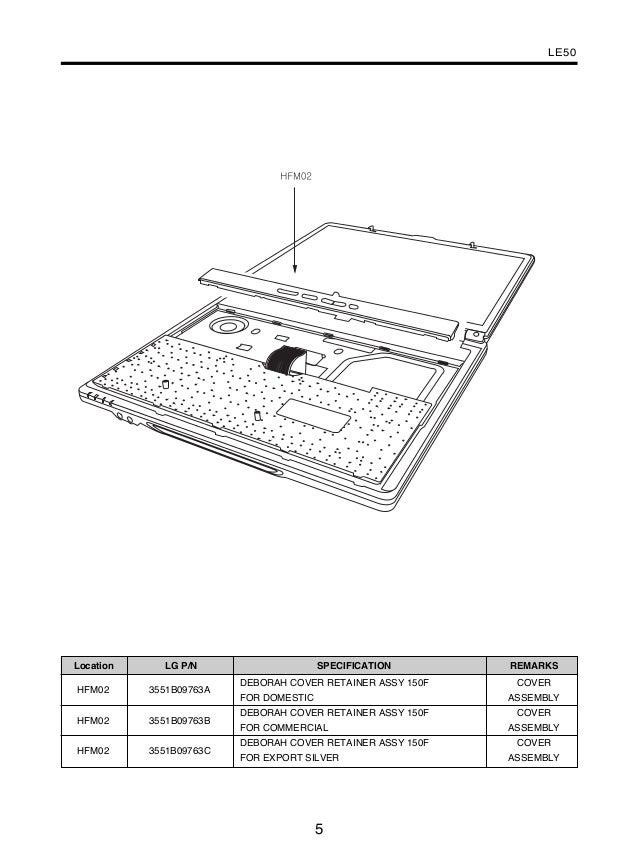 LG Le50 Service Manual