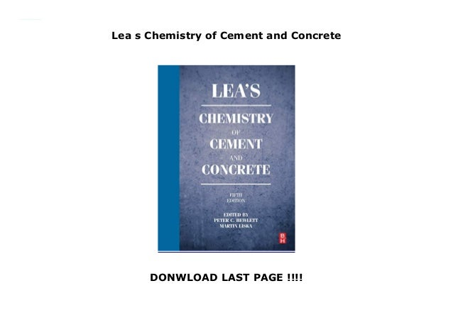 Cement Chemistry Book
