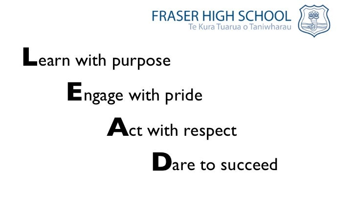 Learn with purpose    Engage with pride          Act with respect                Dare to succeed