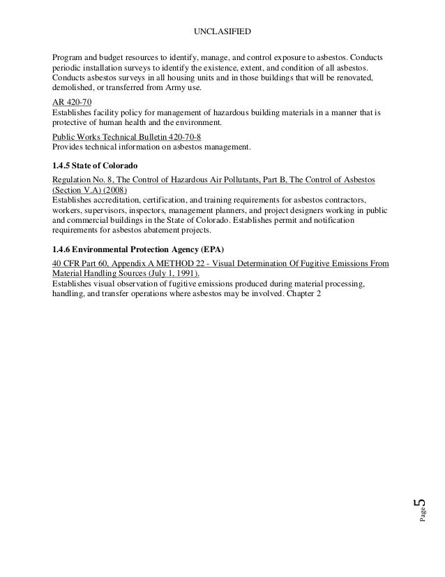 Lead asbestos mgmt plan ems manual 26 urtaz Image collections