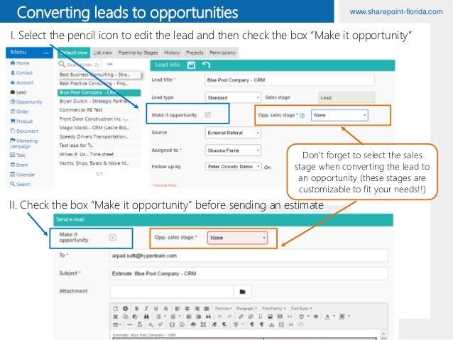 Lead - Opportunity - Order HyperTeam CRM