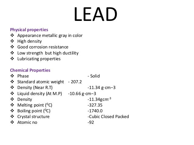 Group  Physical And Chemical Properties
