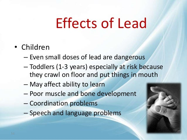 Lead as pollutant