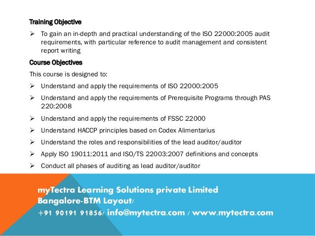 Lead Auditor Course On FSSC 22000 (Food Safety) - IRCA