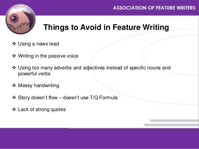 How To Write a Feature Article (Lead, Body, Conclusion)