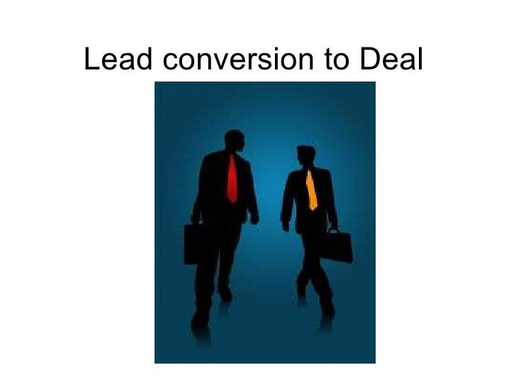Lead conversion to Deal