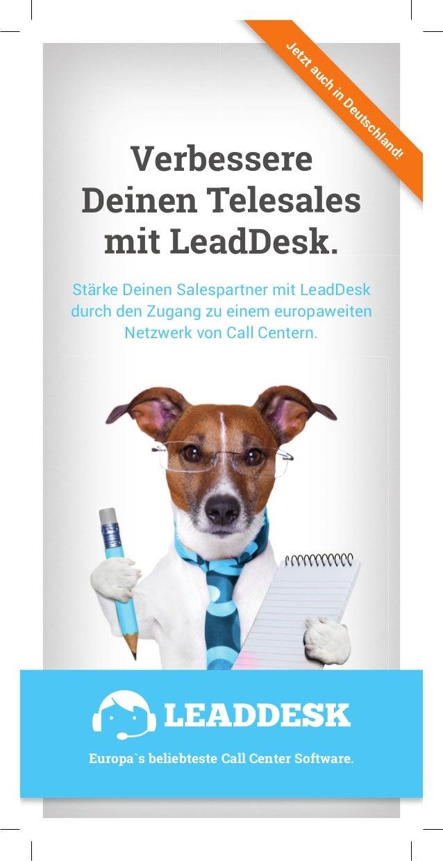 Verbessere Deinen Telesales mit LeadDesk. Stärke Deinen Salespartner mit LeadDesk durch den Zugang zu einem europaweiten N...